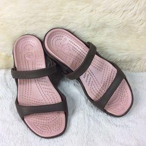 Crocs Synthetic Open Toe Chappal Sandals Size 7